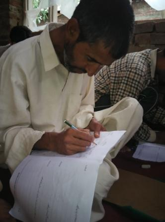 Basic Literacy Assessment of Adult Illiterate Carpet Weavers Learning in Functional Literacy Centers