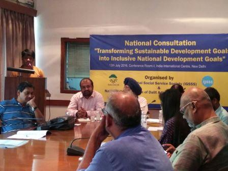 National Consultation on Transforming Sustainable Development Goals into Inclusive National Development Goals