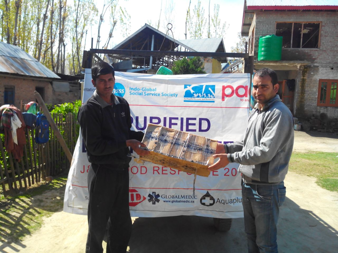 Post Floods Relief Distribution in Kashmir