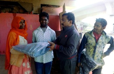 Relief Provided to 200 Homeless Families in Belagaon, New Delhi