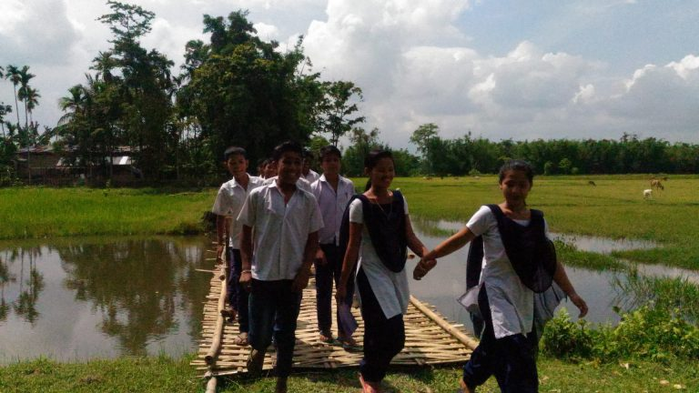 A Bridge to School in Assam