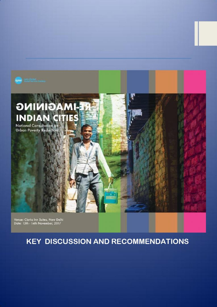 Re – Imagining Indian Cities – A Report on National Consultation on Inclusive Urban Spaces