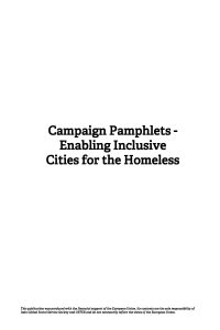 Campaign Pamphlets – Enabling Inclusive Cities for the Homeless